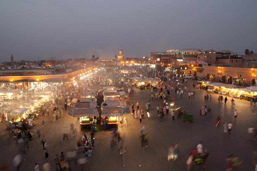 Anochece jama el fna marrakech - Fotos marrakech marruecos ...